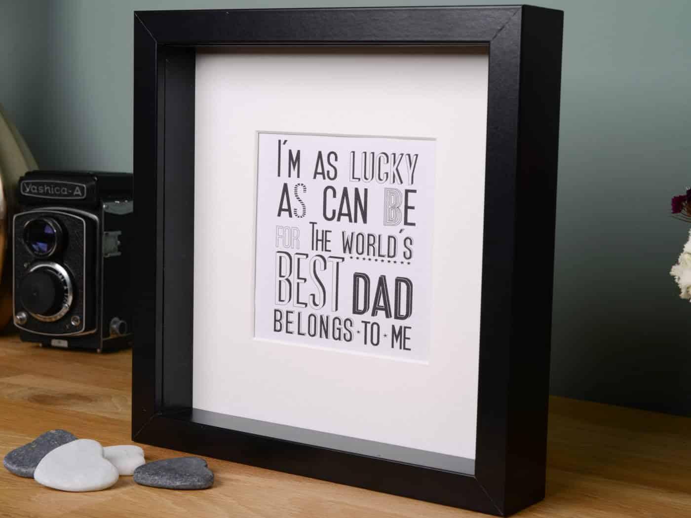 Best dad gift frame - Little Gems Online
