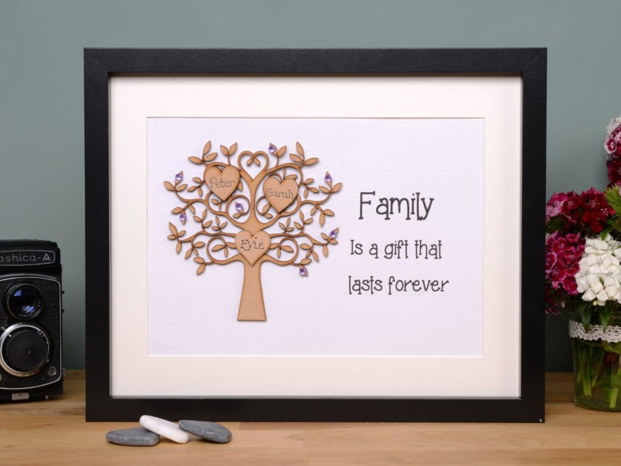 Unique Family Tree Gift Personalised Family Tree Frames