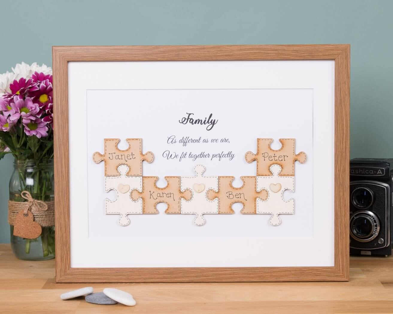Jigsaw family tree | Handmade & Personalised | Free UK delivery
