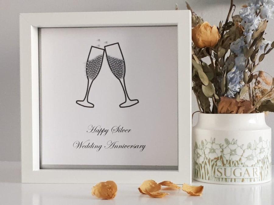 ... Silver wedding anniversary gift Return to previous page. Zoom images & Silver wedding anniversary gift | FREE UK delivey | Little gems online