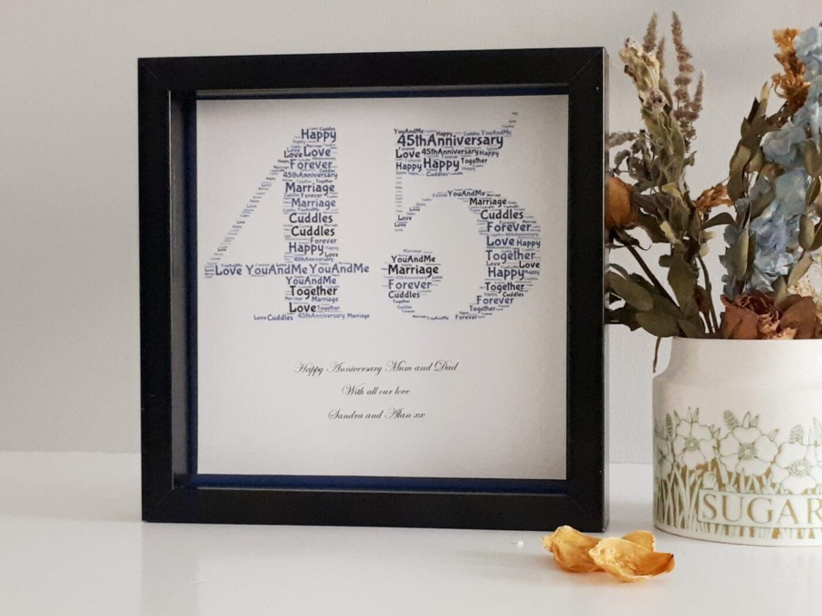 Wedding Gift Presents: 45th Wedding Anniversary Gift