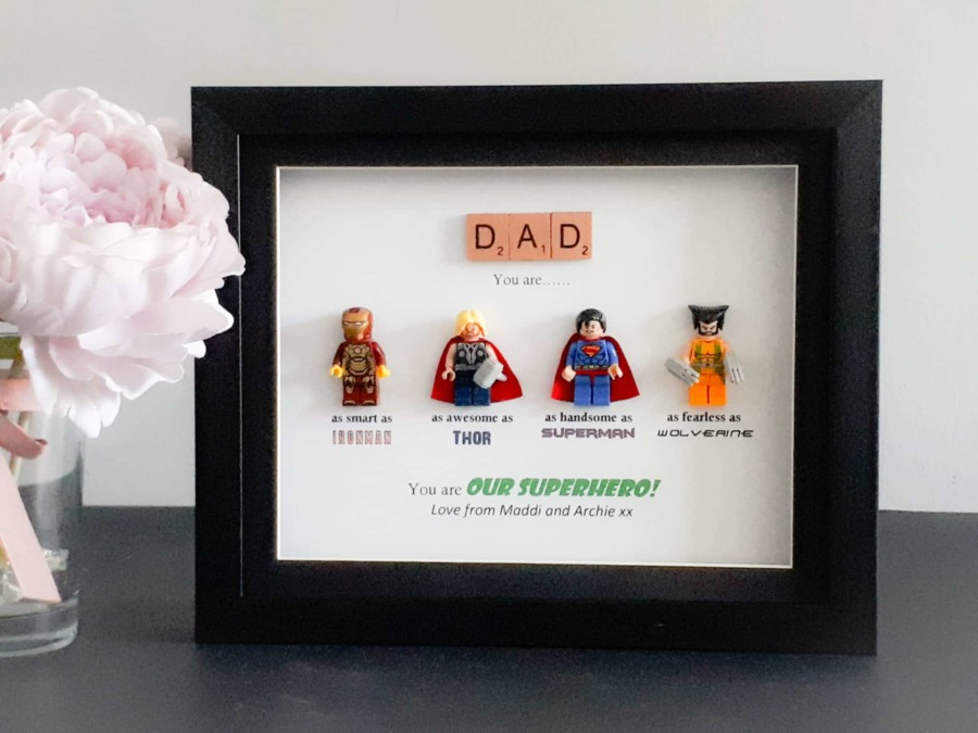 Lego superhero frame | Personalised gifts | Perfect for Daddy, Dad ...