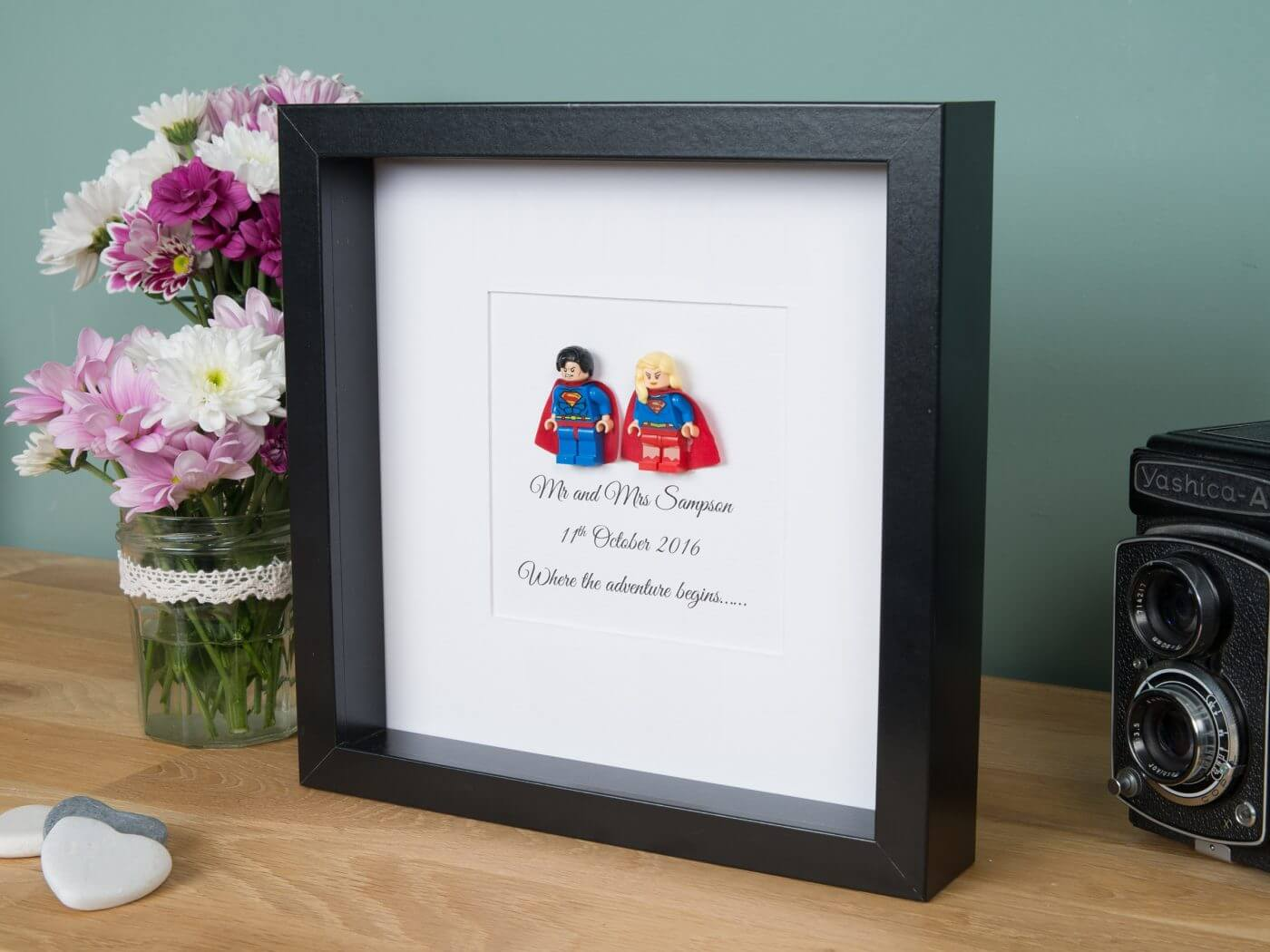 Lego Superhero Wedding Frame Personalised Gifts Free Uk Delivery