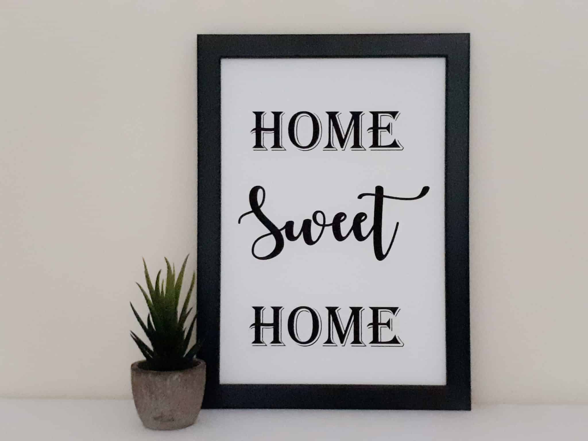 Home Sweet Home Frame Unique Personalised Gifts Free Uk Delivery